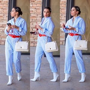 UO Stripped Boiler Suit Overalls